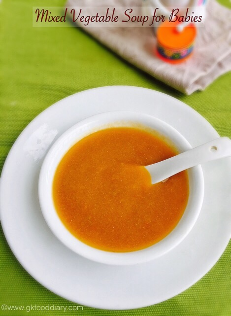 Mixed Vegetable Soup for Babies