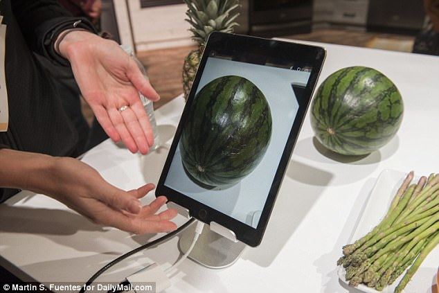 In the demonstration, the app recognized six ingredients that could work for a recipe. It will only provide relevant recommendations, Clark explained. 'We have a watermelon and potatoes here, and those don't go together, so, it won't pair them'