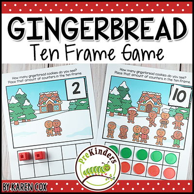 TPT Gingerbread Ten Frame