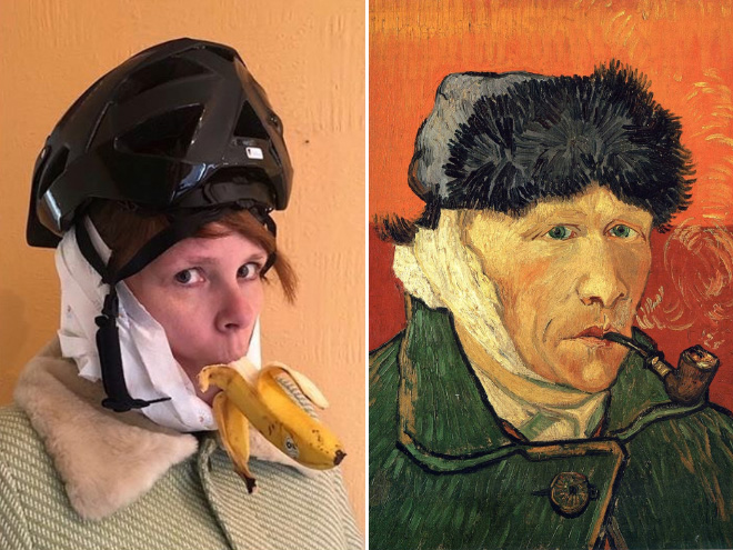 Funny recreated painting.