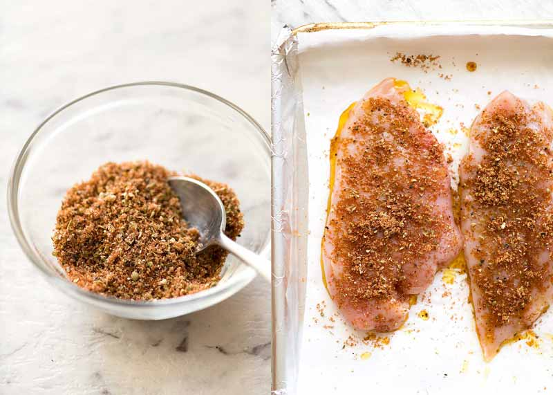 Seasoning for baked chicken breast