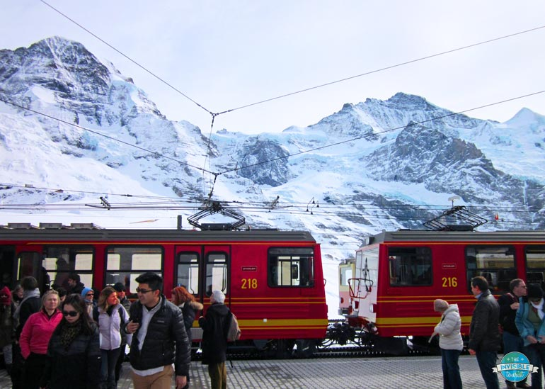 Scenic Train Journeys in Switzerland in Winter