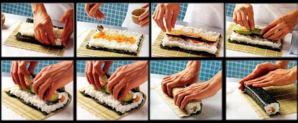 как закручивать суши